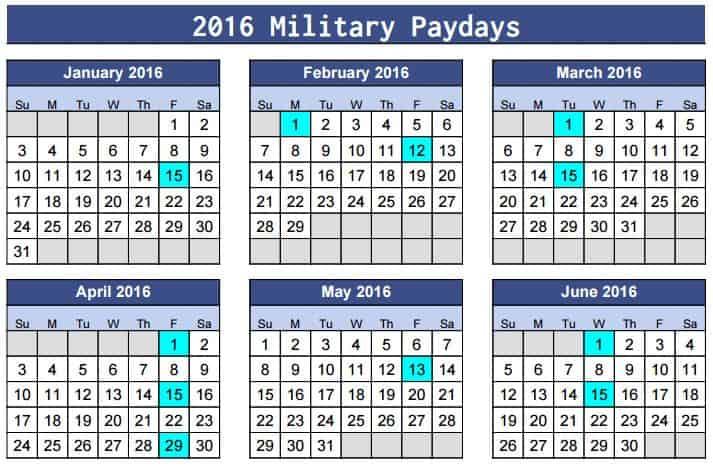 printable 2016 military pay calendar katehorrell 1 military retirement ...