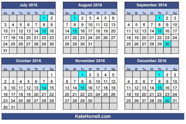 Department Of Army Pay Calendar 2016 | Calendar Template 2016